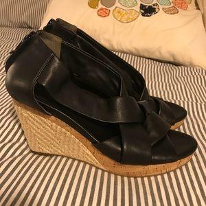 Cole Hagan Wedges 9 B Nike Air soles heels black
